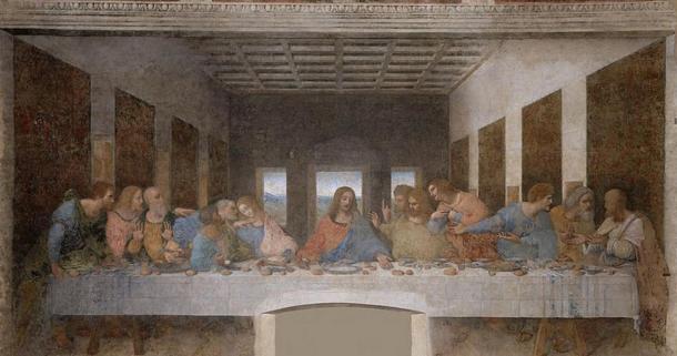 The Last Supper, (1495-1498). By Leonardo da vinci, Convent of Santa Maria delle Grazie, Milan.