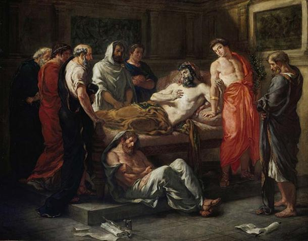 Last Words of the Emperor Marcus Aurelius by Eugène Delacroix