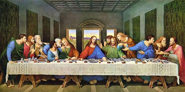 The Last Supper painting (restored). (Leonardo da Vinci / Public domain)