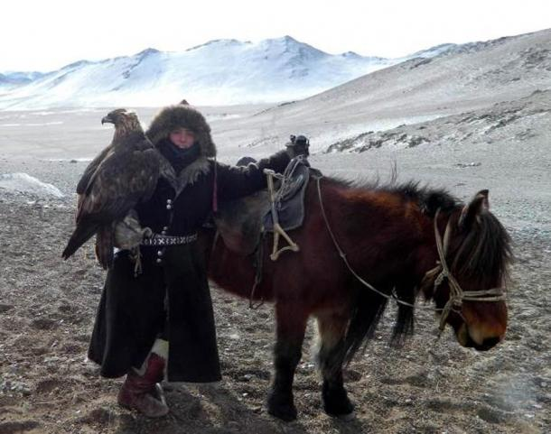 FIG 2.4. Lauren McGough, American eagle huntress in Mongolia, 2009-2013