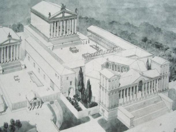 Layout of the temple complex at Baalbek