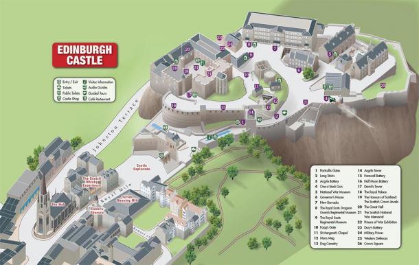 Layout of Edinburgh Castle (maps – Edinburgh)