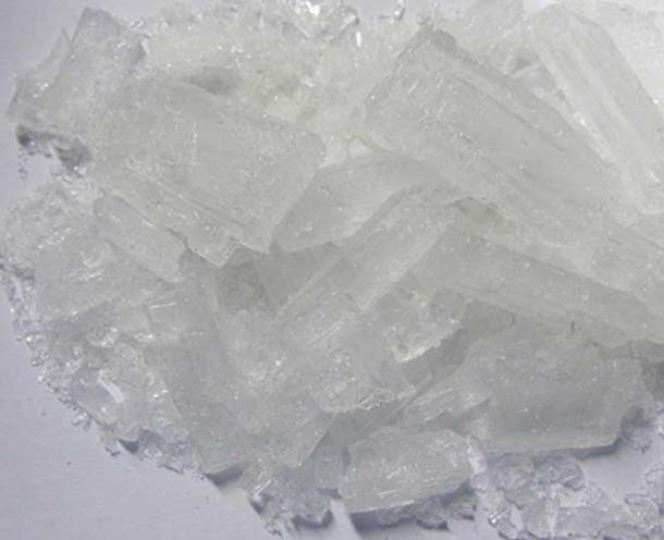 Lead(II) acetate, known also as sugar of lead.