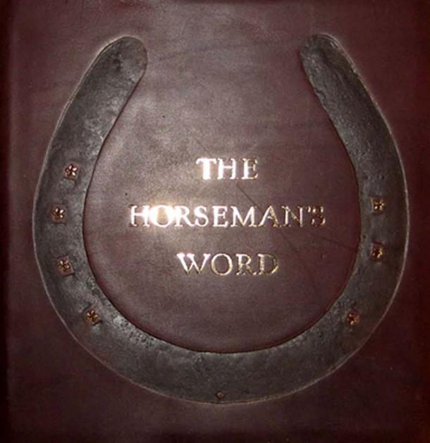 Leather bound book on The Horseman's Word