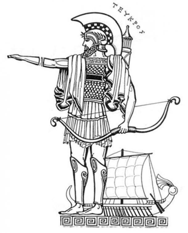 Legendary archer Teucer