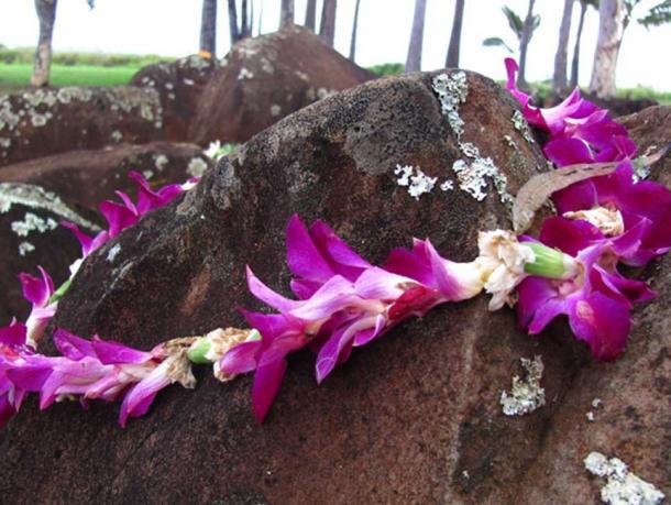 Lei at Kukaniloko Birthing Stones