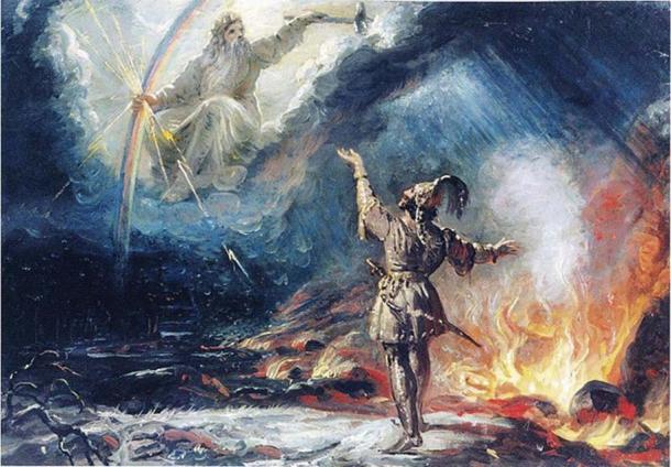 'Lemminkäinen at the Fiery Lake' (1867) by Robert Wilhelm Ekman.