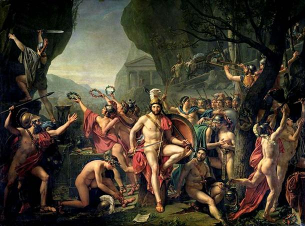 Leonidas at Thermopylae by Jacques-Louis David