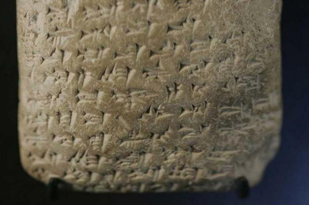 Letter from Biridiya of Megiddo, to the king of Egypt. The text speaks of harvesting by corvee workers in the city of Nuribta. (Rama/ CC BY SA 2.0 )