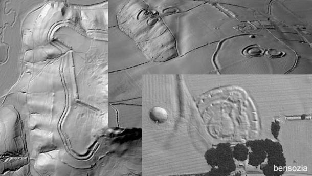 LiDAR scanning is a new technology that is leading to the discovery of many new archaeological sites.  Here scans of three New England towns revealed networks of old stone walls, building foundations, old roads, and other features.