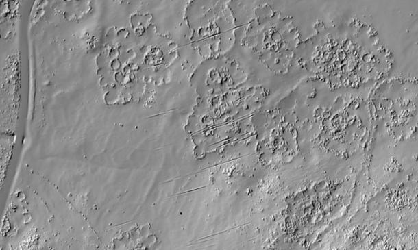 """LiDAR, was used to """"redraw"""" the remains of the city, along the lower western slopes of the Suikerbosrand hills near Johannesburg. (Karim Sadr / University of the Witwatersrand)"""