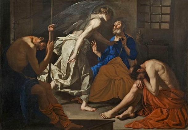 The Liberation of Saint Peter from prison (1640), Antonio de Bellis
