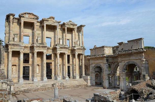The Library of Celsus as it stands today