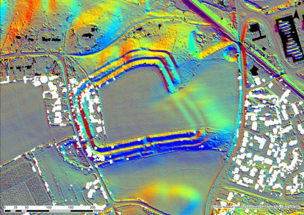 Lidar 3D image of Buckland Rings