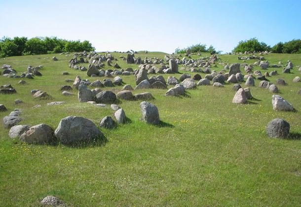 Lindholm Hills, Viking burial site in Denmark.