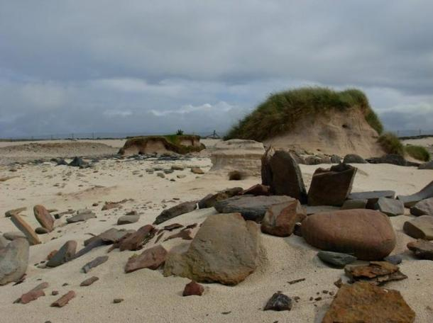 A shot of the seaside Links of Noltland