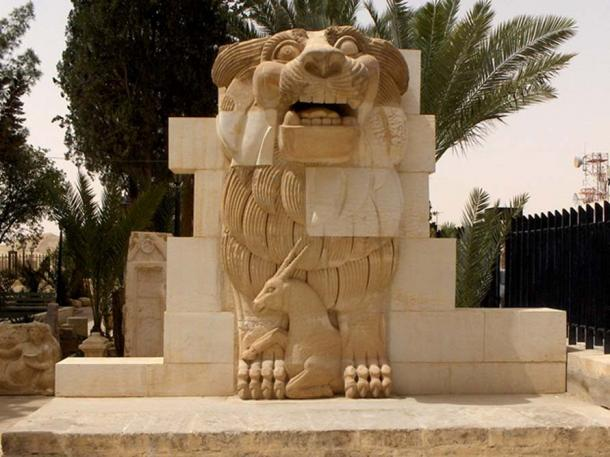 The Lion of Al-lāt (first century AD), which stood at the entrance of the Temple of Al-lāt (destroyed in 2015)