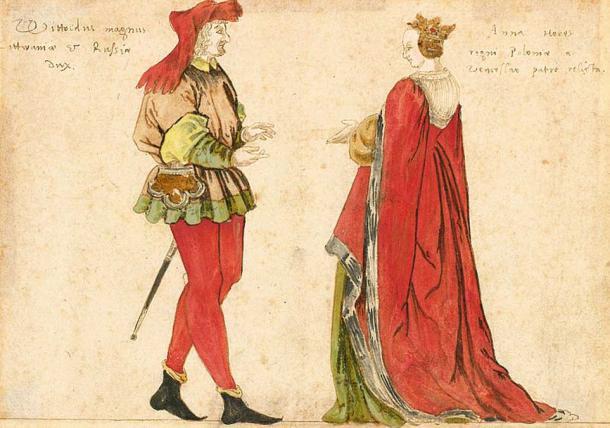 Lithuanian Grand Duke Vytautas the Great and Lithuanian Grand Duchess Anna.
