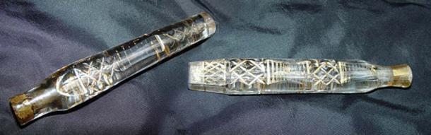 Little glass vials commonly known as tear catchers. (The Victorianachronists)