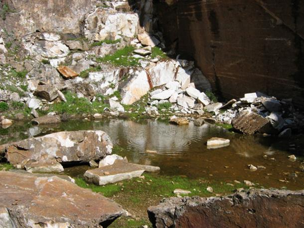Little lake at Penteli mountain Athens Greece. (Christos / Adobe)