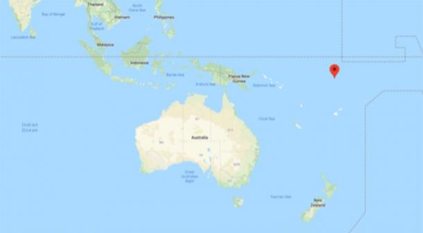 The location of Tuvalu, Pacific Ocean (Google Maps)
