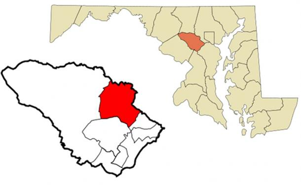 Location of Ellicott City, Maryland