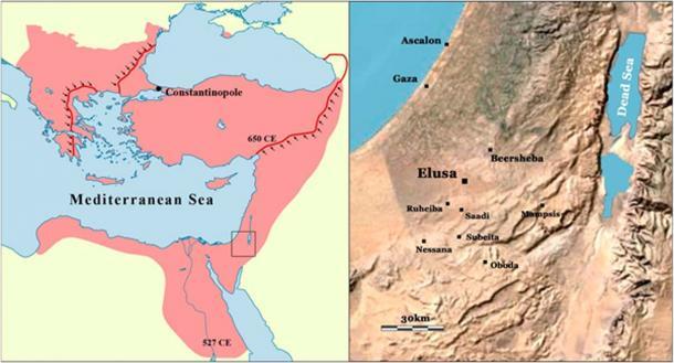 Location of Elusa (Image: Guy Bar-Oz et al / PNAS)