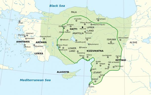 Location of Hittites.