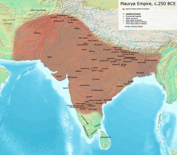 Location of Mauryan Empire CC BY-SA 3.0