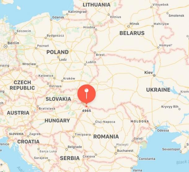 Location of Szatmárcseke