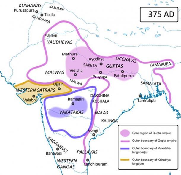 Location of Vakataka Empire. (CC BY-SA 3.0)