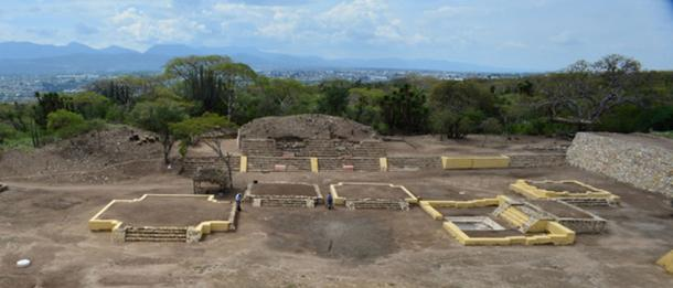 Location where altars and sculptures were uncovered at Ndachjian–Tehuacán archaeological site. (Image: Melitón Tapia, INAH)