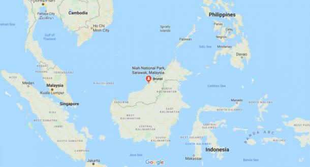 Location of Niah National Park, Malaysia (Google Maps)