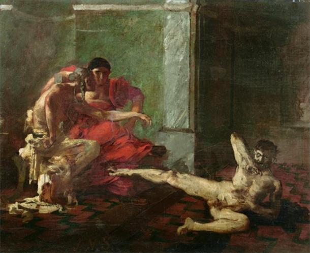 'Locusta Testing Poison on a Slave' (1870-1880) by Joseph-Noël Sylvestre. (Public Domain)