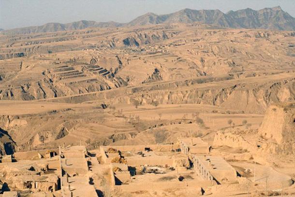 Loess landscape near Hunyuan, Shaanxi Province, China.