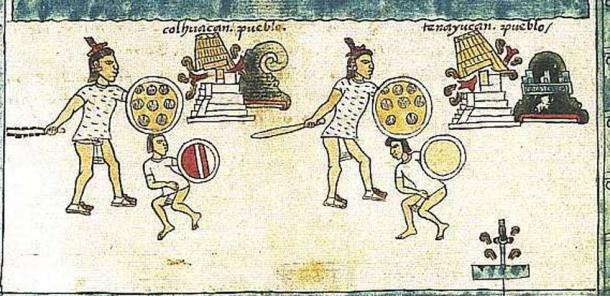 Logograms representing cities being conquered by the Aztecs from the Codex Mendoza. (Public Domain)