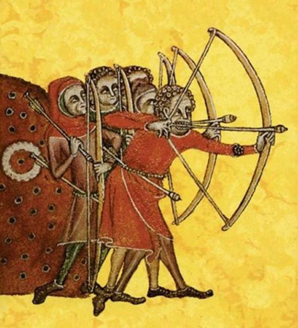 Longbowmen. (Luttrell Psalter / Public Domain)