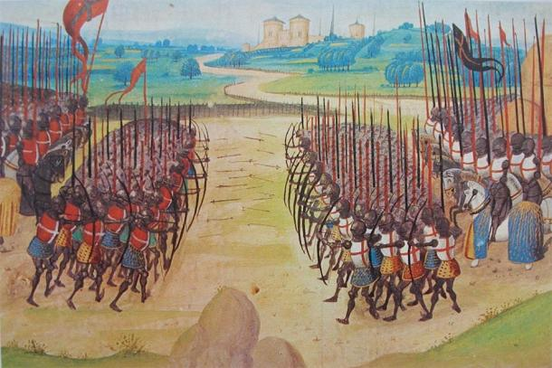Longbowmen at the Battle of Agincourt. (The real Marcoman / Public Domain)