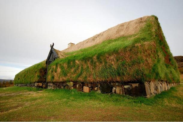 Reconstruction of Viking Longhouse, Iceland