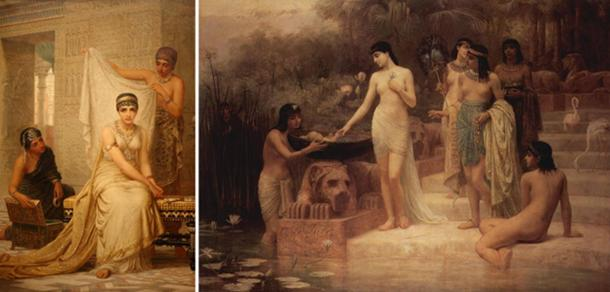 Long's other works [Left] Queen Esther (1878) (Public Domain) [Right] The Finding of Moses (1886) (Public Domain)