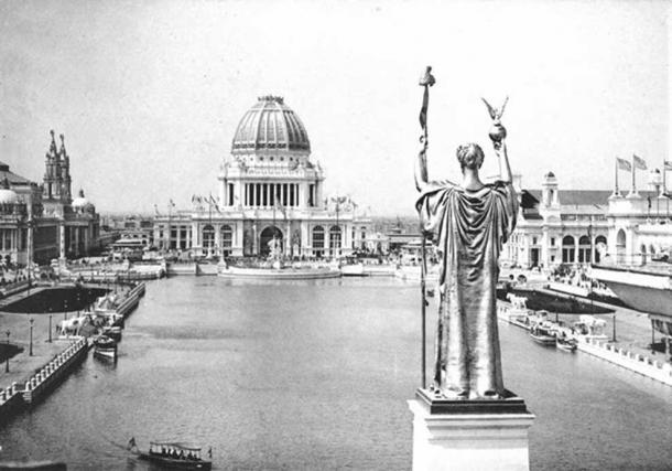 Looking West From Peristyle, Court of Honor and Grand Basin of the 1893 World's Columbian Exposition.