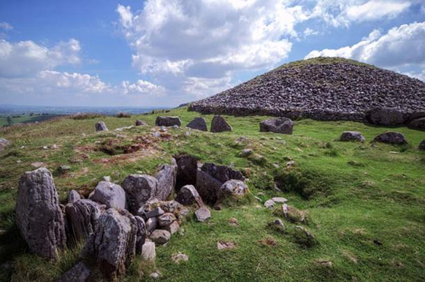 Loughcrew Passage Tomb cairn T with another satellite tomb. This is likely cairn S.