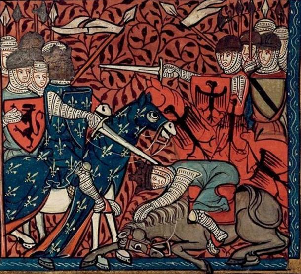 Louis the Pious horse and King at battle. (Wikimedia / Public Domain)