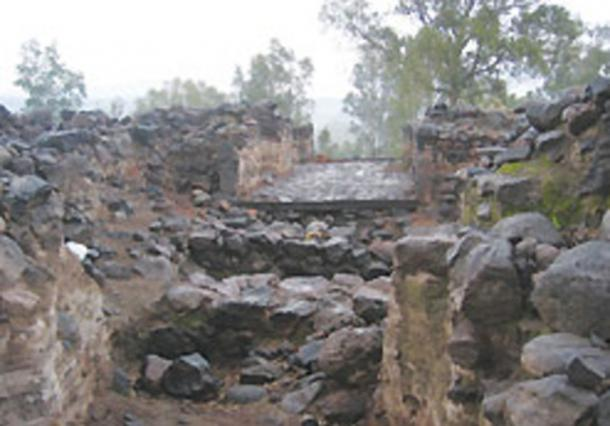 Low quality image of the Bethsaida City Gate that was uncovered in excavations last year.              Source: Stephen G. Rosenberg