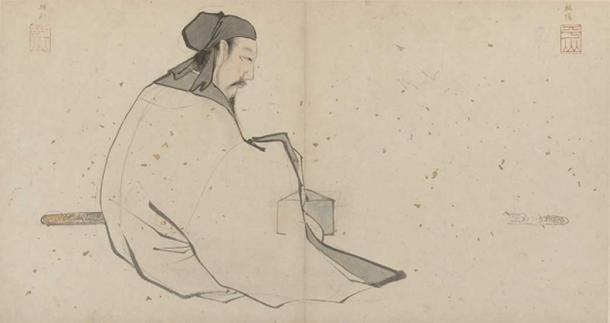 Zhang Lu's painting of Lü Dongbin, early 16th century.