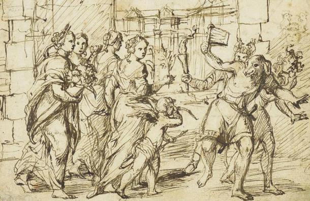 The Lupercalian Festival in Rome by Adam Elsheimer