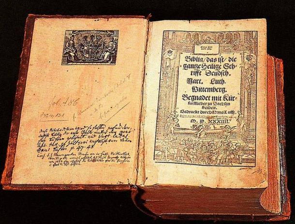 Luther's translation of the Bible, from 1534.