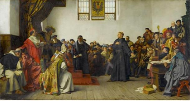 Luther at the Diet of Worms. (Jfhutson / Public Domain)
