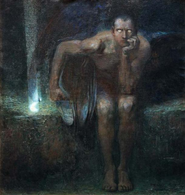 'Luzifer' (1890) by Franz Stuck. (Public Domain)