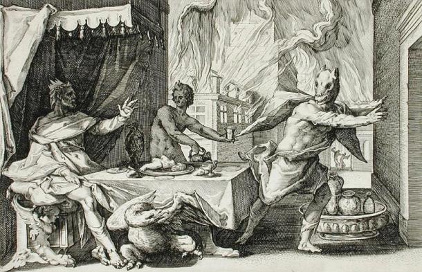 'Lycaon transformed into a wolf' by Henrik Goltzius. (Public Domain)